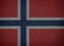 Kingdom of Norway. The Kingdom of Norway fabric flags Royalty Free Stock Images