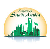 Kingdom of Saudi Arabia Famous Buildings Royalty Free Stock Images