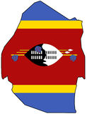 Kingdom of Swaziland. Territory of Swaziland filled with the national flag Stock Photo