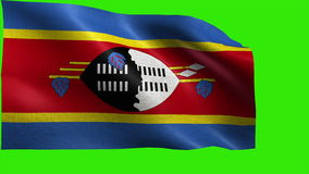 Kingdom of Swaziland, Flag of Swaziland - seamless LOOP royalty free illustration