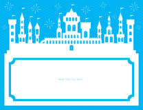 Kingdom template card. This is template card design Royalty Free Stock Photos