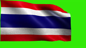 Kingdom of Thailand, Flag of Thailand - LOOP Royalty Free Stock Images