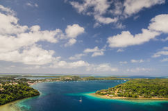 Kingdom of Tonga from above Stock Photography