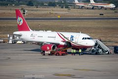 Kingfisher Airlines Royalty Free Stock Images