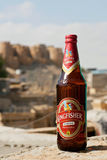 Kingfisher beer in the bottle, brewed by United Breweries Group. Stock Photos