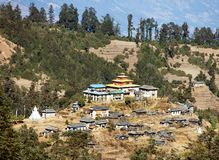 Kinggurding Gomba or Gompa, Everest area, Solukumbu Stock Image
