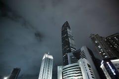 KingKey Financial Center(kk100) at night time. Stock Photo