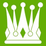 Kingly crown icon green Royalty Free Stock Images