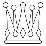 Kingly crown icon, outline style Stock Photo