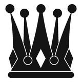 Kingly crown icon, simple style Stock Photography