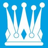 Kingly crown icon white Stock Photo