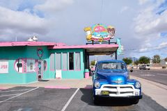 Mr. Dz Route 66 Diner in Kingman. Kingman, Arizona - July 24, 2017 : Mr. Dz Route 66 Diner in Kingman located on historic Route 66 royalty free stock images