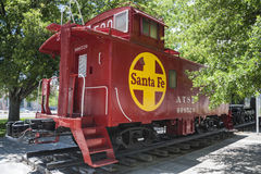 Kingman, AZ, old Santa Fe railroad cupola caboose Royalty Free Stock Photo