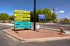 Historic Route 66, Kingman, Arizona USA. Kingman town - Historic Route 66. Tourist information signs in Kingman.  Arizona,  U.S Stock Photo