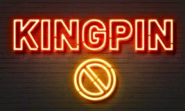 Kingpin neon sign Royalty Free Stock Photo