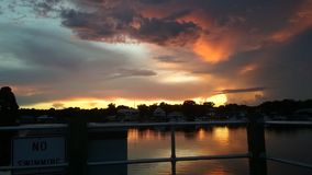 Kings Bay Park, Crystal River Florida Sunsets Stock Photography