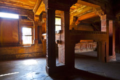 Kings bed made of stone in Fatephur Sikri Royalty Free Stock Photography