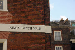Kings Bench Walk, Inner Temple, Inns of Court Stock Photo