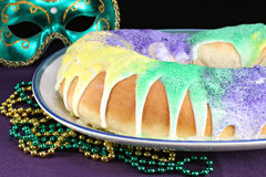 Kings Cake for Mardi Gras Stock Photography