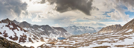 Kings Canyon Panorama at Pinchot Pass Royalty Free Stock Photos
