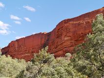 Kings Canyon in the red center of Australia Royalty Free Stock Photos