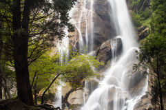 Kings Canyon waterfall. Waterfall inside Kings Canyon National Park, California Royalty Free Stock Images