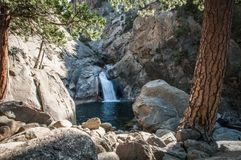 Kings canyon waterfall panorama Stock Photo