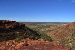 Kings Canyon Wattarka National Park. Not far from Uluru, Australia Royalty Free Stock Images