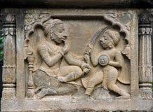 Kings Carved in Maheshwar Stock Images