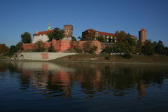 Kings Castle. In Krakow by Vistula river Stock Photo