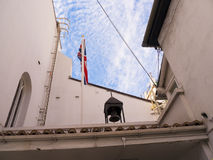 Kings Chapel on the Rock of Gibraltar at the entrance to the Mediterranean Sea Royalty Free Stock Photos