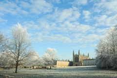 Kings College. View of Kings College in the winter. Cambridge. UK Royalty Free Stock Photos