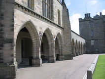 Kings College, Aberdeen. Colonnade Kings College, Aberdeen, Scotland Royalty Free Stock Image
