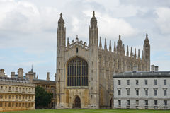 Kings college cambridge. From backs royalty free stock images