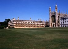 Kings College, Cambridge, England. Royalty Free Stock Photo