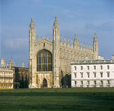 Kings College Chapel Cambridge. From the backs Stock Image