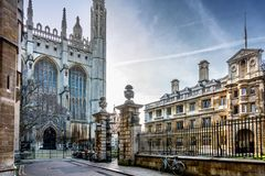 Kings College Chapel in Cambridge Royalty Free Stock Images
