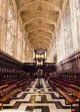 Kings College Chapel interior, Cambridge royalty free stock photography