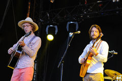 Kings of convenience band performs at DcodeDeportivo Cantarranas Stock Photography