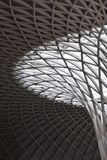 Kings Cross geometry in light and shadow. An abstract. stock image