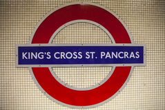 Kings Cross St Pancras Underground Station in London Stock Photography