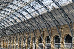 Kings cross station. Image taken of kings cross Railway Station roof, england Stock Photos