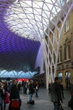 Kings Cross Station, London, England. This is the magnificent train station in London Stock Image