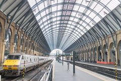 Kings Cross Station platform Royalty Free Stock Images
