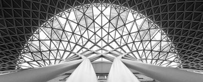 Kings cross station roof Stock Photos