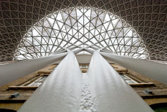 Kings cross station roof Royalty Free Stock Image