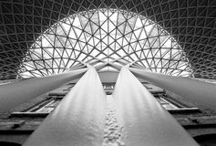 Kings cross station roof Royalty Free Stock Images