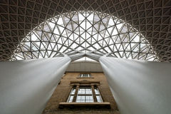 Kings cross station roof Royalty Free Stock Photos