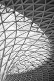 Kings cross station roof Stock Image