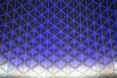 Kings Cross Station. Textured illuminated ceiling Royalty Free Stock Photography
